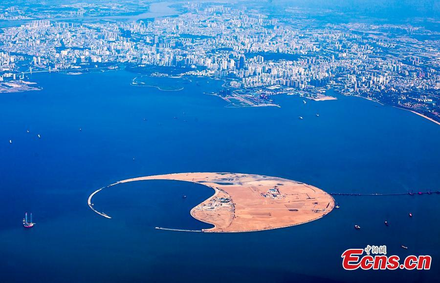 Hainan : construction d'une imposante île artificielle