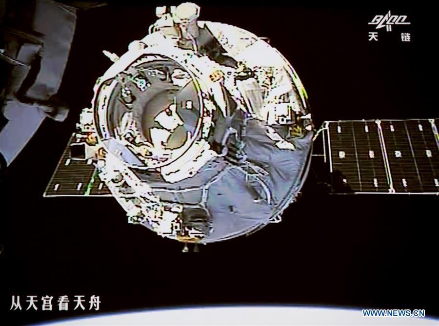 Un cargo spatial chinois atteint le laboratoire Tiangong 2