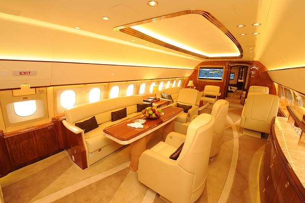 r serv aux milliardaires l 39 int rieur du jet priv d 39 airbus 6. Black Bedroom Furniture Sets. Home Design Ideas